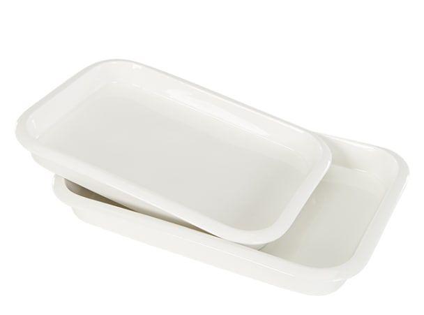 MADE Essentials Ramus 2 x Servierschalen, Porzellan in Weiß