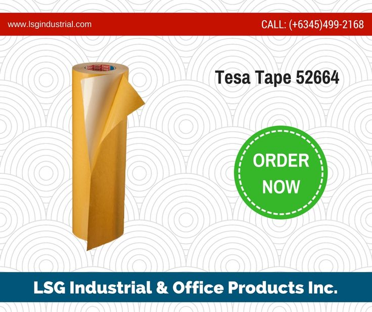 Tesa 52664 consists of a tear resistant flexible fabric backing, with a rubber adhesive system. It can be removed easily without leaving adhesive residues. View other features: http://buff.ly/2re6hes -- #shoplocal #tesatapes #tesaphilippines #tesadistributor #lsgtesatapes #lsgclark #philippinedistributor #angelescity