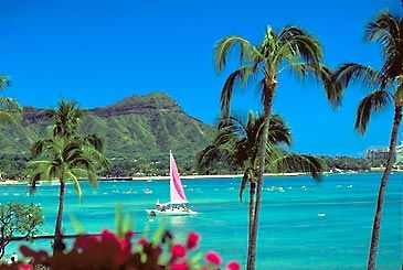 Waikiki Beach - Oahu, Hawaii:  One of my fave places in the world.  Have been here on vacation many times and for a wedding.