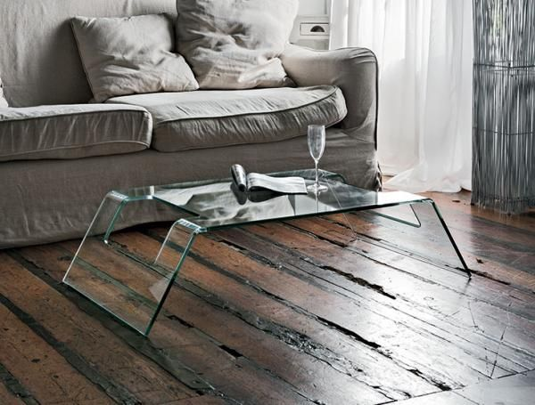 Contemporary Radon by Target Point Transparent Glass Coffee Table - See  more at: https: