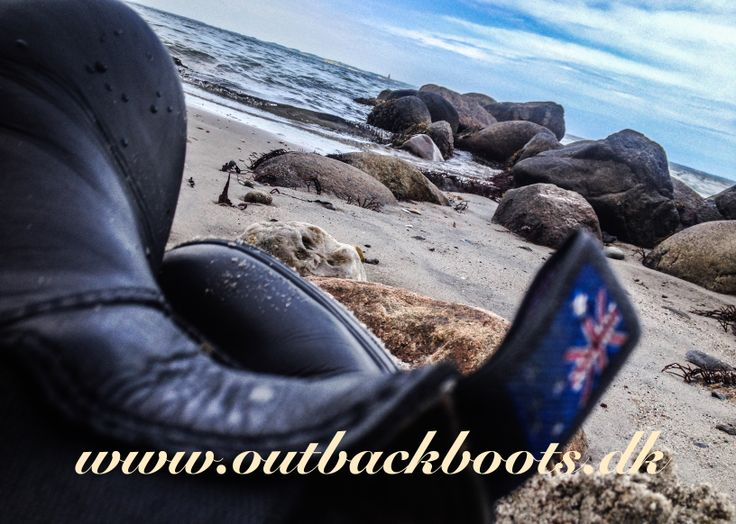 Boots on beach - outback boots