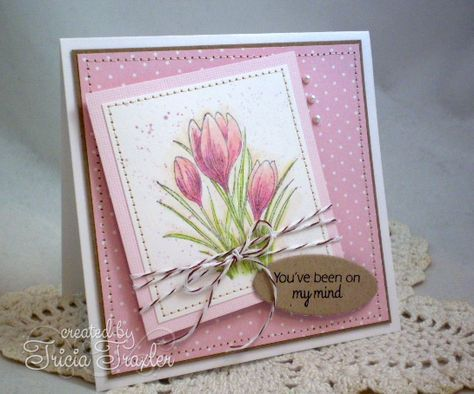 CPS Day Three - CAS Crocus by T. Joy - Cards and Paper Crafts at Splitcoaststampers