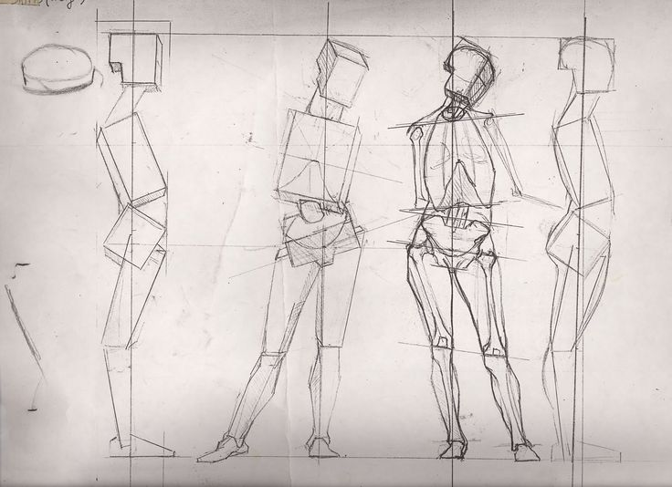44 Best Figure Drawing Planar Studies Straight Lines Block Ins