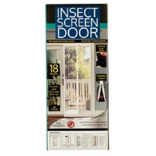 Magnetic screen door fits single and sliding doors up to for Magnetic sliding screen door