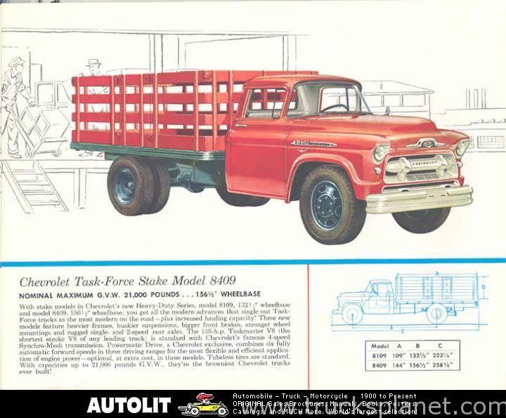 1956 Chevy 4400 Truck Chevrolet 4108 Chevrolet 6409