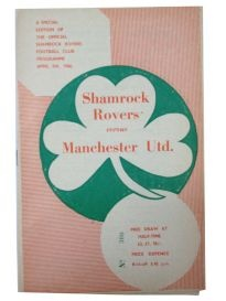 Programme from Shamrock Rovers European Cup tie with MUFC in 1957/58
