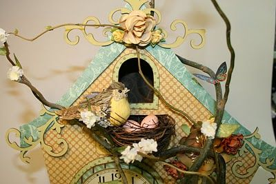 The Paper Trail: Fairy Clock view 3