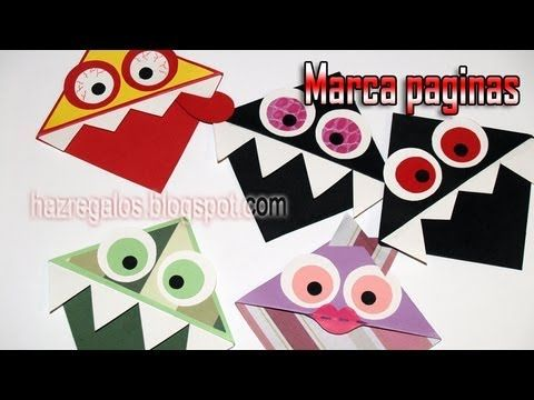 Marcapáginas de Monstruos - DIY - Monster Bookmark - YouTube