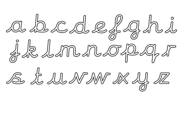 Teacher's Pet Displays » Editable Cursive Letter Formation