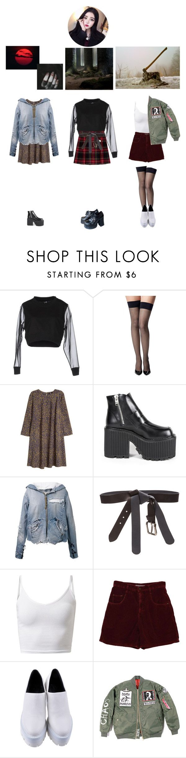 """""""  Siren   Hobgoblin (ft. Koon Bae) — Ivy (Solo Scenes)"""" by pc-pink ❤ liked on Polyvore featuring Cheap Monday, Commando, H&M, Greg Lauren and Maison Margiela"""