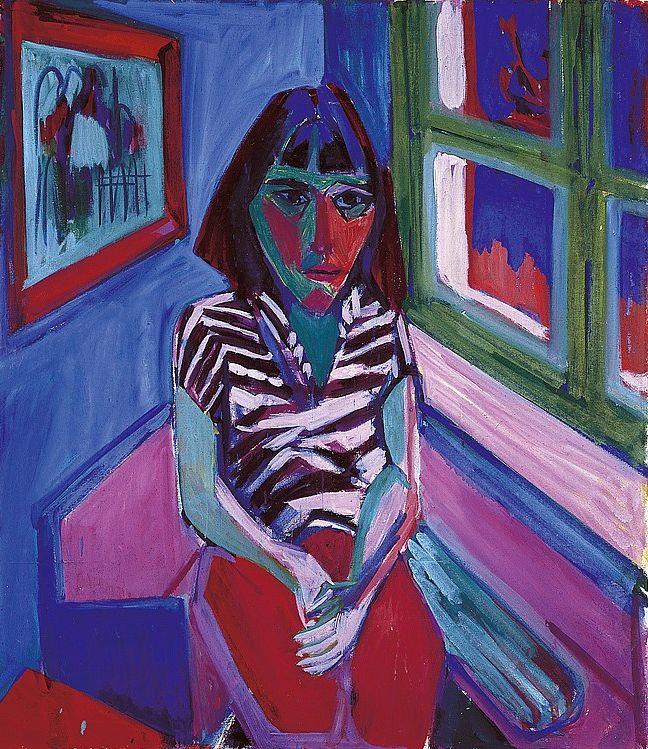 Albert Müller (1897-1926), Portrait of Anna, 1925. oil on canvas, 115 x 100 cm
