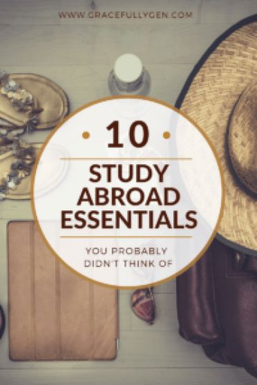 Packing to study abroad is overwhelming. Make sure you don't forget any of these study abroad essentials! They will make your life soooo much easier!