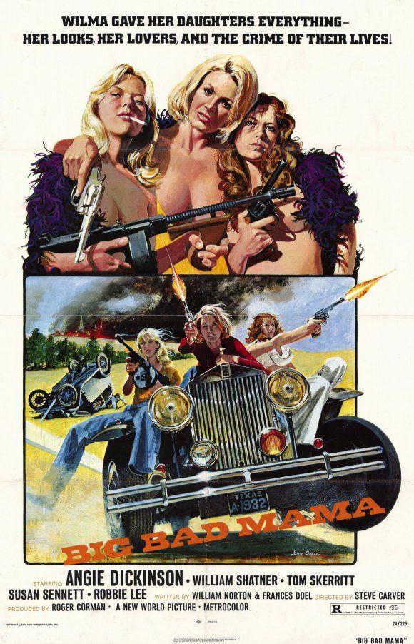 BIG BAD MAMA (1974) / exploitation film poster art