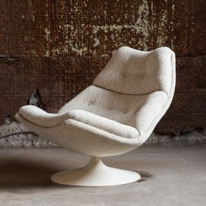 F584 Swivel Lounge Chair by Geoffrey Harcourt for Artifort « Van der Most Modern