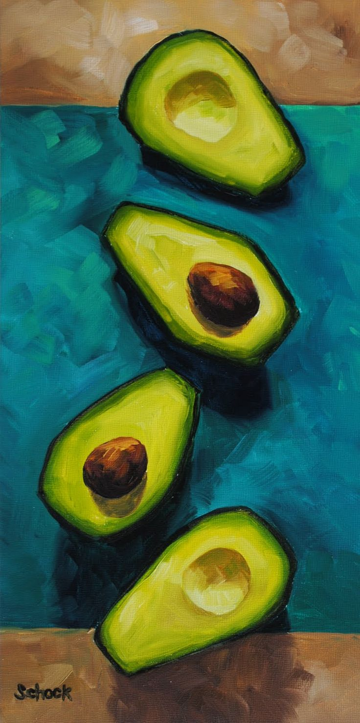 avocado still life | sipping wine and painting | Pinterest