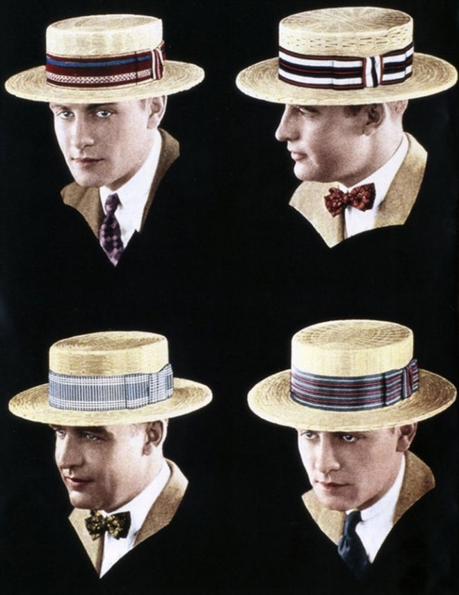 1926 Swiss Straw Boater s Hats Men s Summer Fashions Advertisement by… e335125043d8