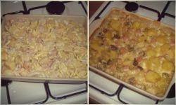 Рецепт картофельной запеканки с грибами, сыром и ветчиной
