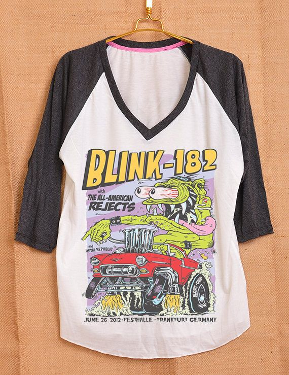 Blink 182 Monster All American Rejects Cover Album Pop Indie Punk Rock Tattoo Vintage Lady Women T shirt V Neck Size S M L on Etsy, $18.00