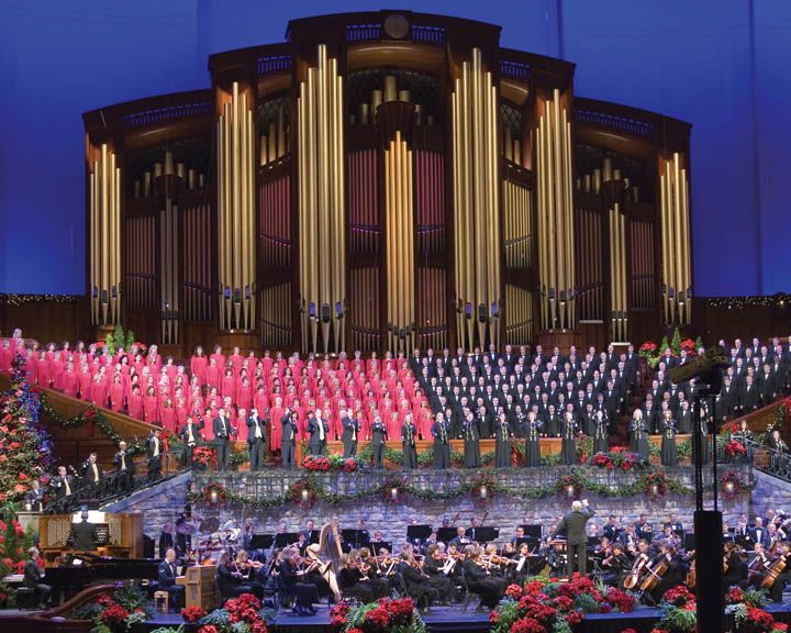 "Title: The Mormon Tabernacle Choir. ""After singing the sacred hymns of The Church of Jesus Christ of Latter-day Saints (sometimes inadvertently called the ""Mormon Church"") for more than a century and a half, the Mormon Tabernacle Choir has become popularly known as ""America's Choir."" The 360 member choir is comprised of men and women ranging from ages 25 to 60 from many diverse backgrounds and professions."""