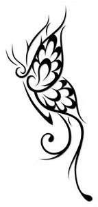 Butterfly Tribal Tattoo Designs N 2