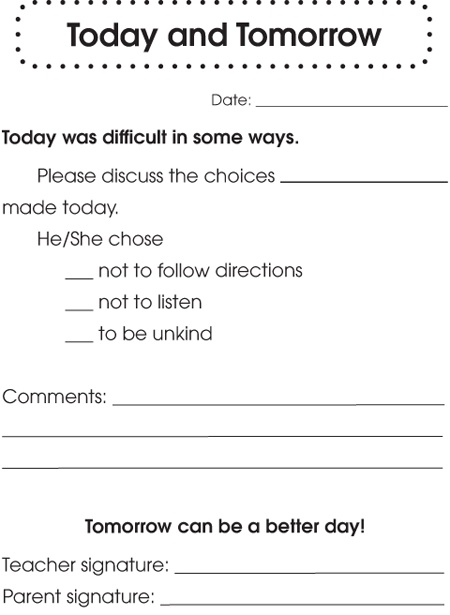 Best  Behavior Report Ideas On   Parent Contact Form