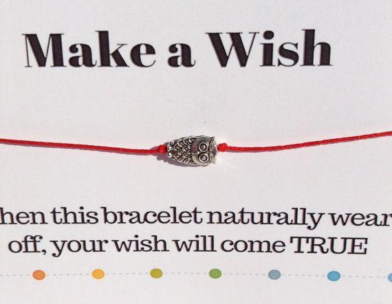 Owl Bracelet Make a Wish Owl Bracelet Tibetan by DanusHandmade