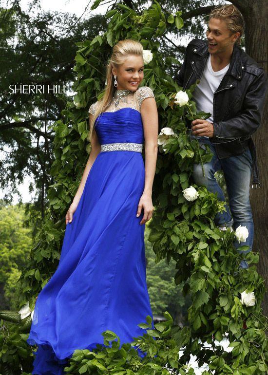 2013 Sherri Hill 21254 Navy Elegant Long Dresses - $170.00 : 2014 Prom Dresses Online Sale,Cheap Sherri Hill Dresses