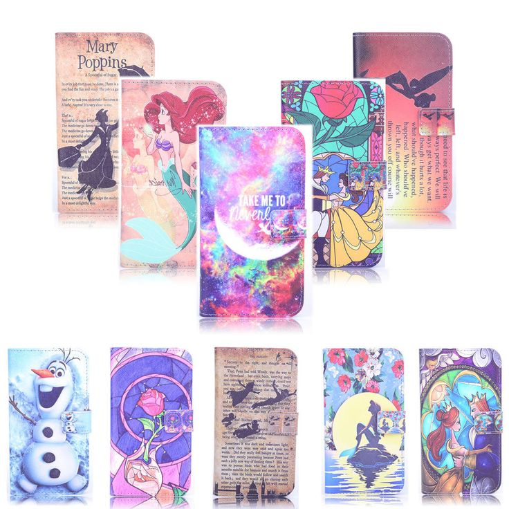 Animated Movies Art Design Leather Wallet Flip case For Iphone Samsung A1-0042
