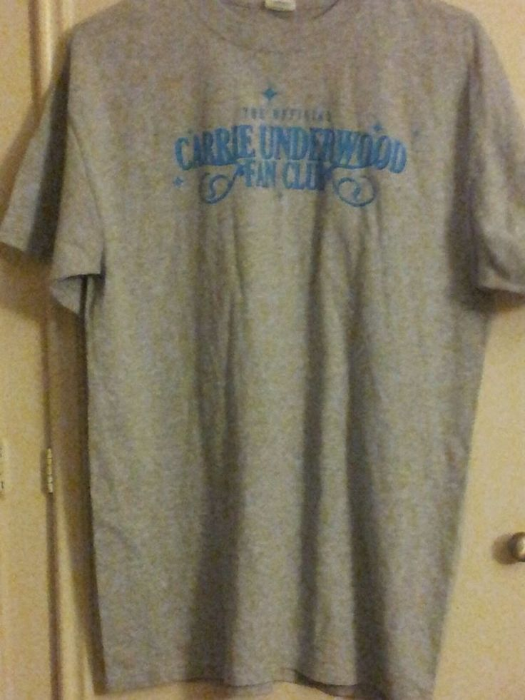 The Official CARRIE UNDERWOOD FAN CLUB Tee Shirt Adult Size LARGE #Anvil #ShortSleeve