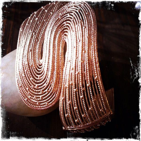 Bracciale in filigrana di argento rosa
