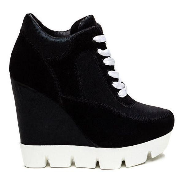 Best 25  Black wedge trainers ideas on Pinterest | Wedged trainers ...