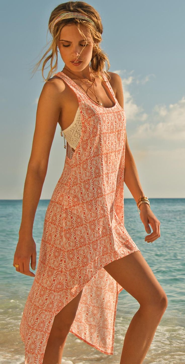 Swim dresses and cover-ups are a must have when you plan to spend your day at the beach or by the pool side. You can't be letting the sun be mean to your glowing skin all day long. Wearing a swim cover-up in between, especially when you walk up to the near by bar to get a drink is a great way to flaunt your fashion statement.