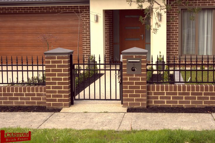 Brick Fence and Olympus Steel with Pedestrian gate 02