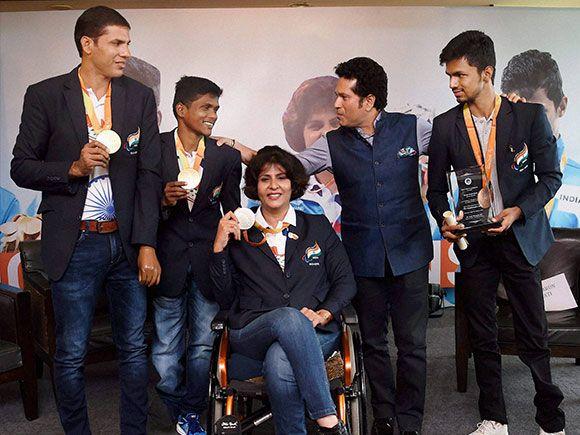 Paralympic medal winner felicitation ceremony in Mumbai