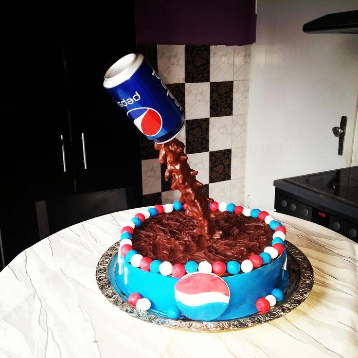 Pepsi Anti Gravity Cake #baking #cooking #food #recipes #cake #desserts #win #cookies #recipe #cakes #cupcakes