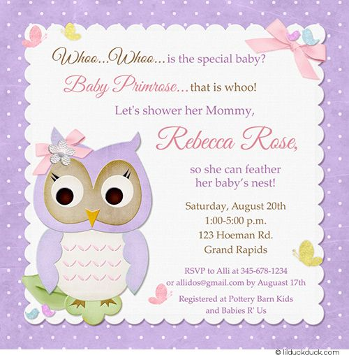 105 Best Owl Event Cards Images On Pinterest Baby Bird Shower