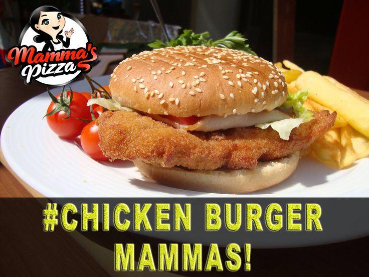 Το πιο αφράτο chicken burger mammas περιμένει σε απογειώσει με τη λαχταριστή του γεύση και την μοναδική ποιότητα.. Γιατί η mammas ξέρει από νοστιμιά!! www.mammaspizza.gr #serres #pizza #delivery #pasta #food #onlinedelivery #burgers #salad #pizzadelivery #hungry #foodie