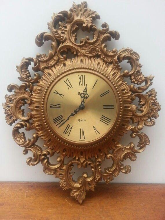 Vintage ornate gold clock