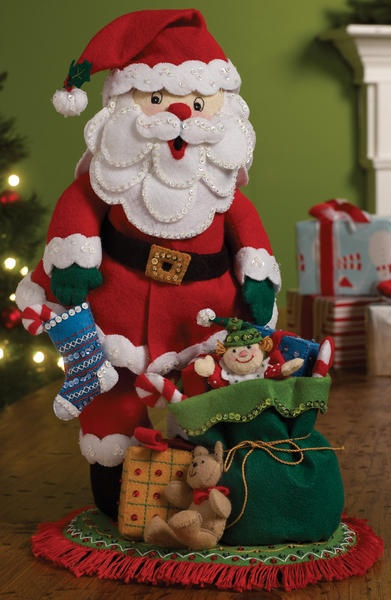Ho! Ho! Ho! Santa Claus comes into your home when you make this fun and festive felt figure.