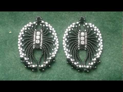 "Best Seed Bead Jewelry  2017  1920's Art Deco -""ish"" Spiderlike earrings. Brickstitch  Seed Bea"