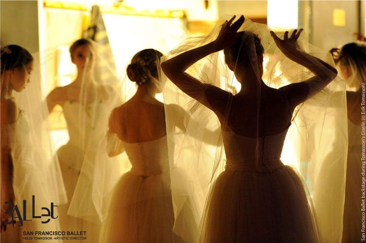 Backstage during Tomasson's Giselle.