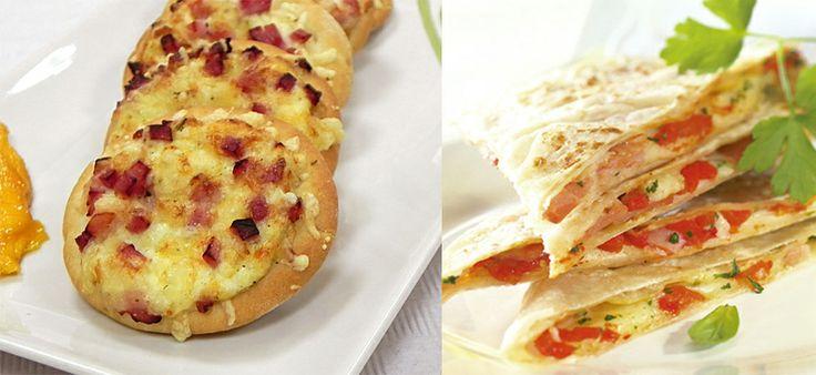 Mini pizzas y mini piadinas de Laduc