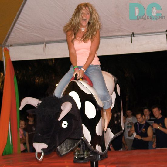 Girls Bull Riding | DC Photo Gallery Spring Break Cancun Mexico hot blonde girl riding...