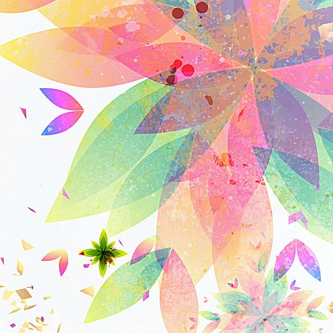 復古樹葉背景向量設計 Graphic Design Background Templates Floral Background Colorful Backgrounds