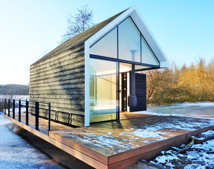 The Wedge tiny house is a small, gorgeous dwelling that you can transport just about anywhere and simply roll into place.