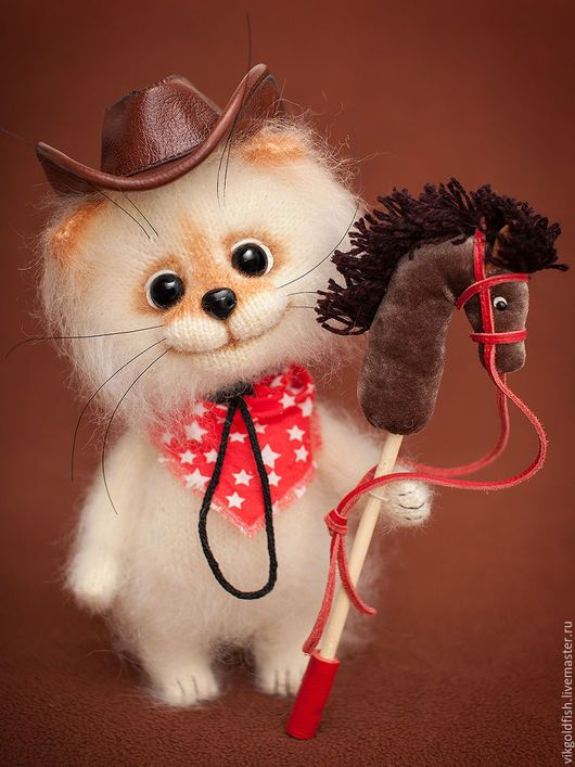 Игрушки животные, ручной работы. Ярмарка Мастеров - ручная работа. Купить Котенок Джонни - маленький ковбой. Handmade. Кот