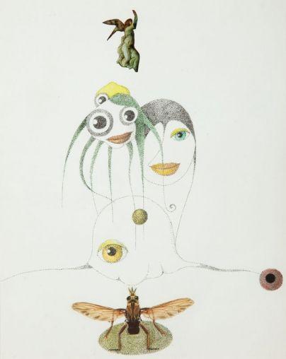 Kazimierz Mikulski - Kompozycja z owadem