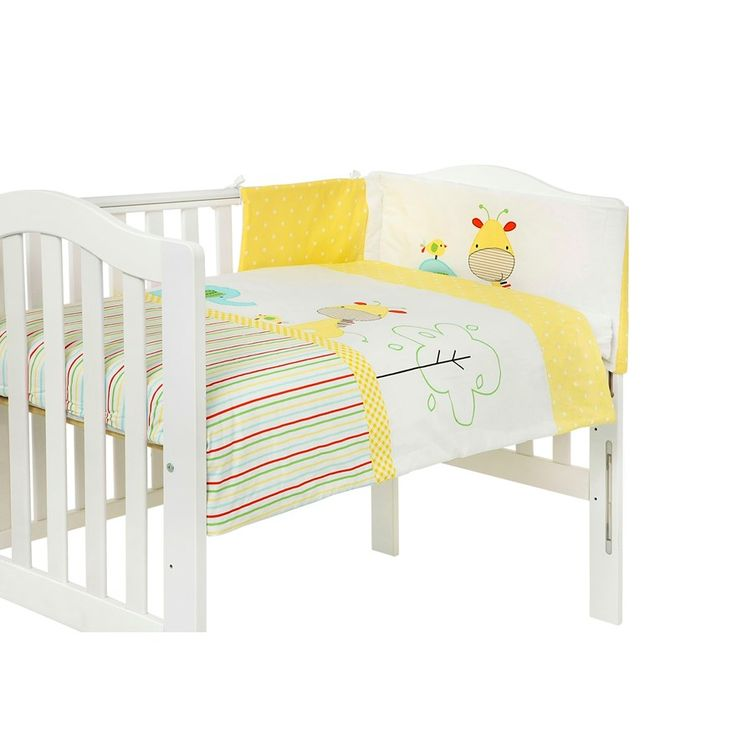 Image result for baby elegance cot bumper yellow giraffe
