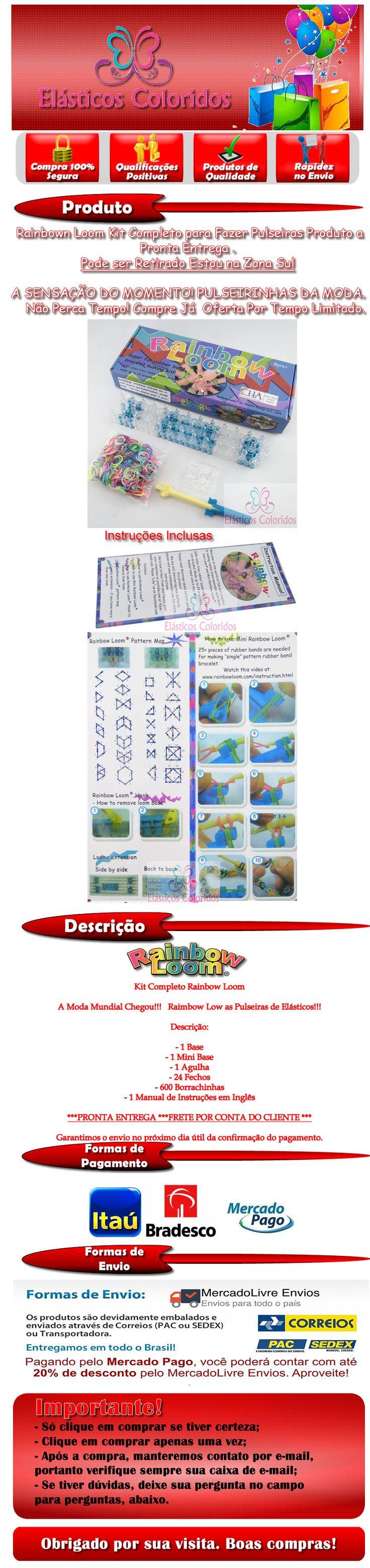 http://www.elasticoscoloridos.com.br- https://www.facebook.com/pages/El%C3%A1sticos-Coloridos/844302925622086- COMO HACER UN MINION DE GOMITAS- VIDEO TUTORIAL DIY FIGURA (CHARM)- Rainbow Loom - Pulseira de Elástico - Loom Bands -Gomitas(TUTORIAL)- Rainbow Loom-Pulseiras com elástico (Escama De Dragão)COM PENTE GOMITAS- Raibow Lom-Pulseiras de Elásticos (CORES DO REGGAE)Gomitas-Reggae- Pulseiras de elasticos com nome feito com garfos- Tutorial pulseiras de elasticos Rainbow Loom para…