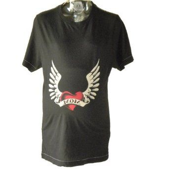 Heart and Wing Maternity Contrast Tee (Medium) Hot Mama Ink. $15.00